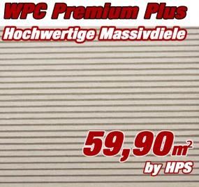 WPC Massivdiele Premium Plus - Sand