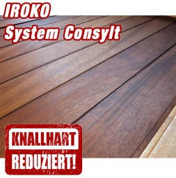 Holzterrasse Iroko System CONSYLT
