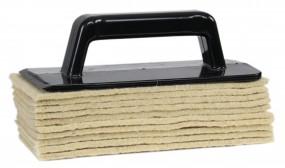 Padhalter inkl. 10x Schafwollpads - Parkett Nachölen - Bodenbeläge einpflegen polieren