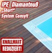 Aktion - Holzterrasse Ipe Diamantnuss Short System CONSYLT