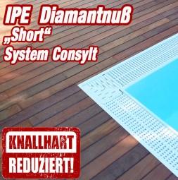 Aktion - Holzterrasse Ipe Diamantnuss Short System CONSYLT©