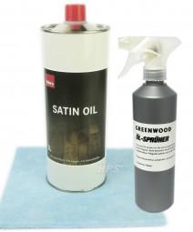 Satin Oil 1lt. + Öl-Sprüher + Auftragsvlies