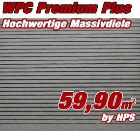 WPC Massivdiele Premium Plus - Granit