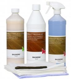 BAUWERK Pflege und Reinigungsset für versiegeltes Parkett