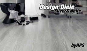 Design-Diele Silver-white