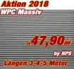 WPC Massivdiele Premium Hellgrau - Aktion 2018