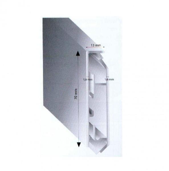 Sehr Alu Sockelleisten 70mm Kabelkanal | Alu Kabelkanal Sockelleiste  BM25
