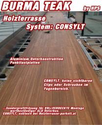 Holzterrasse Burma Teak System CONSYLT©