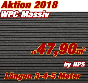 WPC Massivdiele Premium Anthrazit- Aktion 2018