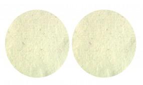 2Stück Wollpad Ø30cm Polierpad Schafwolle 100%Schafschurwolle