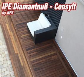 Holzterrasse Ipe Diamantnuß System CONSYLT