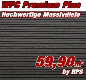WPC Massivdiele Premium Plus - Anthrazit