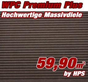 WPC Massivdiele Premium Plus - Ipe,Diamantnuß